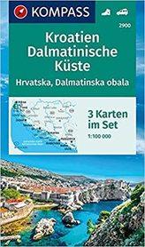 CHORWACJA - WYBRZEŻE DALMACJI 3 mapy turystyczne 1:100 000 KOMPASS