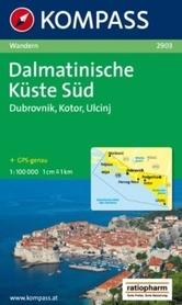 CHORWACJA - DALMACJA POŁUDNIOWE WYBRZEŻE mapa turystyczna 1:100 000 KOMPASS