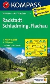 RADSTADT-SCHLADMING-FLACHAU wodoodporna mapa turystyczna 1:50 000 KOMPASS