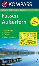 FUSSEN - AUSSERFERN mapa turystyczna 1:50 000 KOMPASS