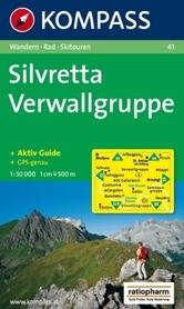 SILVRETTA - VERWALLGRUPPE mapa turystyczna 1:50 000 KOMPASS