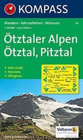 OTZTALER ALPEN ALPY OTZTALSKIE mapa turystyczna 1:50 000 KOMPASS