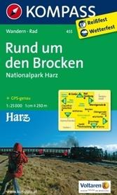 BROCKEN NP HARZ mapa turystyczna 1:25 000 KOMPASS