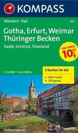GOTHA - ERFURT - WEIMAR mapa turystyczna 1:50 000 KOMPASS