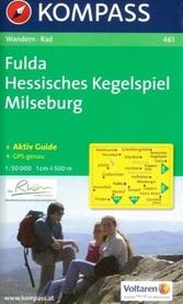 FULDA - HESSISCHES KEGELSPIEL - MILSEBURG mapa turystyczna 1:50 000 KOMPASS