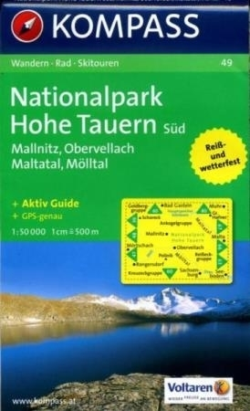 NP HOHE TAUERN SUD mapa turystyczna 1:50 000 KOMPASS