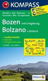 BOLZANO I OKOLICE mapa turystyczna 1:50 000 KOMPASS