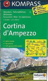 CORTINA D AMPEZZO mapa turystyczna 1:50 000 KOMPASS