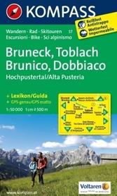 BRUNECK TOBLACH mapa turystyczna 1:50 000 KOMPASS