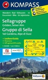SELLAGRUPPE mapa turystyczna 1:50 000 KOMPASS