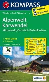ALPENWELT KARWENDEL mapa turystyczna 1:50 000 KOMPASS
