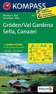 GRODEN / VAL GARDENA wodoodporna mapa turystyczna 1:25 000 KOMPASS