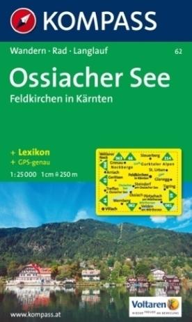 OSSIACHER SEE - FELDKIRCHEN IN KARNTEN wodoodporna mapa turystyczna 1:25 000 KOMPASS