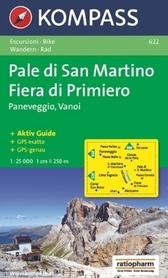 PALE DI SAN MARTINO wodoodporna mapa turystyczna 1:25 000 KOMPASS