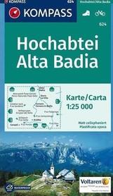 HOCHABTEI / ALTA BADIA wodoodporna mapa turystyczna 1:25 000 KOMPASS