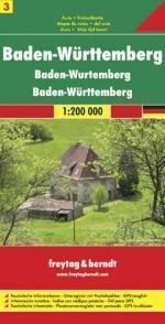 BADENIA WIRTEMBERGIA CZ. 3 mapa 1:200 000 FREYTAG & BERNDT