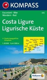 WYBRZEŻE LIGURYJSKIE wodoodporna mapa turystyczna 1:50 000 KOMPASS
