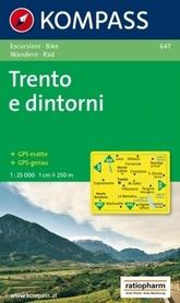TRENTO E DINTORNI wodoodporna mapa turystyczna 1:25 000 KOMPASS