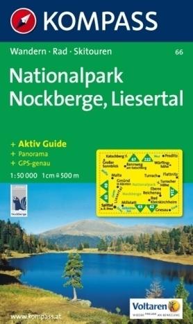 NOCKBERGE NP LIESERTAL wodoodporna mapa turystyczna 1:50 000 KOMPASS