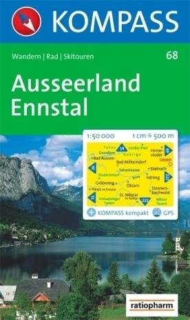 AUSSEERLAND wodoodporna mapa turystyczna 1:50 000 KOMPASS