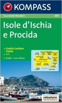 ISOLE D ISCHIA E PROCIDA wodoodporna mapa turystyczna 1:15 000 KOMPASS