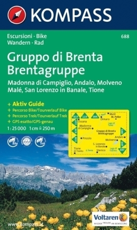 GRUPPO DI BRENTA mapa turystyczna 1:25 000 KOMPASS