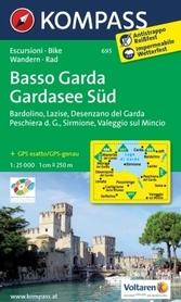 JEZIORO GARDA - POŁUDNIE BASSO GARDA mapa turystyczna 1:25 000 KOMPASS