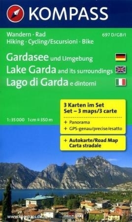 JEZIORO GARDA I OKOLICE mapa turystyczna 1:35 000 KOMPASS