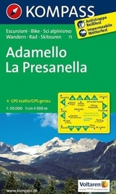 ADAMELLO - LA PRESANELLA mapa turystyczna 1:50 000 KOMPASS