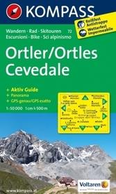 ORTLER - ORTLES CEVEDALE wodoodporna mapa turystyczna 1:50 000 KOMPASS