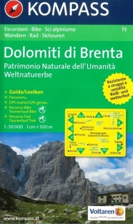 DOLOMITY BRENTY wodoodporna mapa turystyczna 1:50 000 KOMPASS
