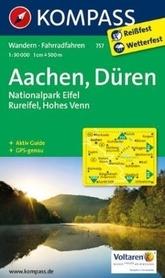AKWIZGRAN- DUREN-NP EIFEL wodoodporna mapa turystyczna 1:50 000 KOMPASS