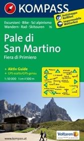 PALE DI SAN MARTINO wodoodporna mapa turystyczna 1:50 000 KOMPASS