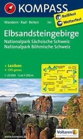 ELBSANDSTEINGEBIRGE NP wodoodporna mapa turystyczna 1:25 000 KOMPASS