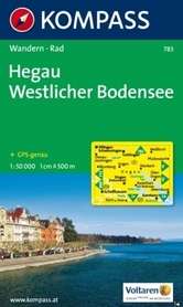HEGAU - WESTLICHER BODENSEE mapa turystyczna 1:50 000 KOMPASS
