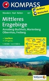 ERZGEBIRGE MITTLERES wodoodporna mapa turystyczna 1:50 000 KOMPASS