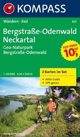 BERGSTRASSE-ODENWALD NECKARTAL mapa turystyczna 1:50 000 KOMPASS