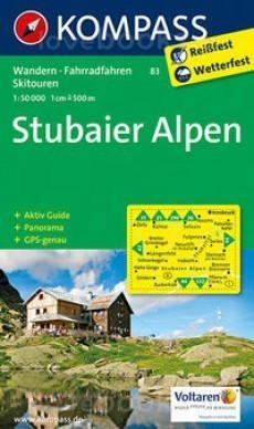 STUBAIER ALPEN wodoodporna mapa turystyczna 1:50 000 KOMPASS 2016