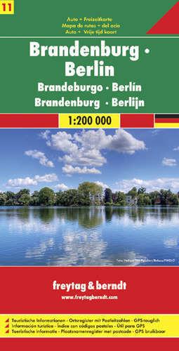 BRANDENBURGIA BERLIN CZ. 11 mapa samochodowa 1:200 000 FREYTAG & BERNDT