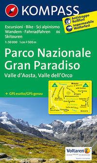 GRAN PARADISO wodoodporna mapa turystyczna 1:50 000 KOMPASS