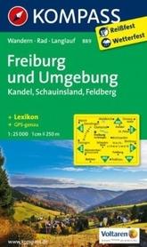 FREIBURG I OKOLICE wodoodporna mapa turystyczna 1:25 000 KOMPASS