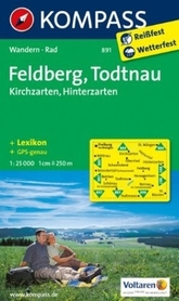 FELDBERG TODTNAU mapa turystyczna 1:25 000 KOMPASS