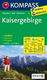KAISERGEBIRGE wodoodporna mapa turystyczna 1:50 000 KOMPASS