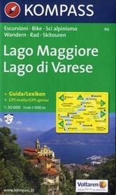 LAGO MAGGIORE mapa turystyczna 1:50 000 KOMPASS