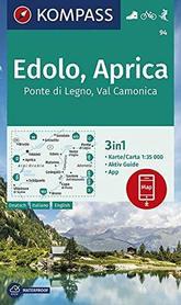 EDOLO - APRICA 94 mapa turystyczna 1:50 000 KOMPASS