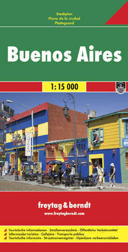 BUENOS AIRES plan miasta 1:15 000 FREYTAG & BERNDT