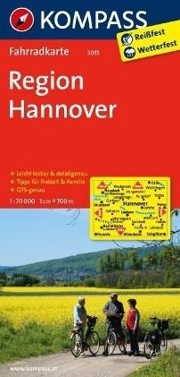 REGION HANOVER wodoodporna mapa turystyczna 1:70 000 KOMPASS