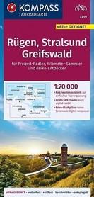 RUGIA - STRALSUND - GREIFSWALD wodoodporna mapa turystyczna 1:70 000 KOMPASS