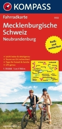 MECKLENBURGISCHE SCHWEIZ - NEUBRANDENBURG wodoodporna mapa turystyczna 1:70 000 KOMPASS