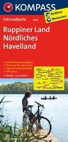 Ruppiner Land / Nördliches Havelland mapa turystyczna 1:70 000 KOMPASS